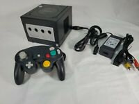 Nintendo Gamecube (BLACK DOL-101) System Console, Controller, Tested, Clean