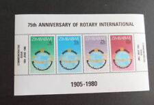 Mint Never Hinged/MNH Sheet Zimbabwean Stamps (1965-Now)