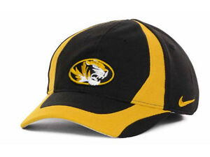 Missouri Tigers Nike NCAA Kid's Team Flex Hat Cap Lid Mizzou Child Stretch Fit