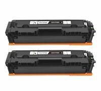 2Pk CF500X 202X Black Toner Cartridge For HP Color LaserJet MFP M254dw M281fdw