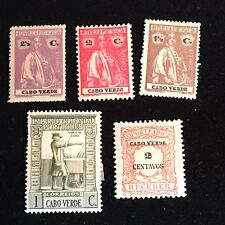 1914-1938 Cape Verde Postage Stamps, Unused, Postage Due, Lot of