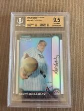 1999 Bowman Chrome Refractor #400 Matt Holliday BGS 9.5 Gem Mint