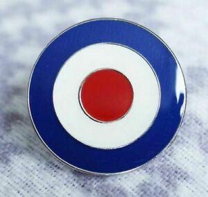 MOD TARGET RAF ROUNDEL QUALITY ENAMEL LAPEL PIN BADGE BULLSEYE 20mm