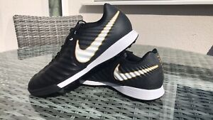Mens Nike Tiempo X Astro Turf Football Boots Shoes Size 9 Black
