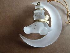 CHRISTMAS - Vintage Snowman Hanging Ornament - Rare Vintage Find