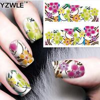 Nail Art Water Decals Stickers Transfers Neon Pretty Flowers Gel Polish (272)
