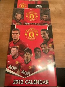 3 x MANCHESTER UNITED Official Calendars 2013/2014/2015. New & Sealed..