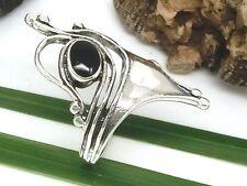 Echt 925 Silber Ring mit schwarzem Stein Jugendstil Design Gothic Silberring