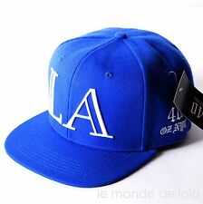 40oz NYC Snapback Hat Cap LA Los Angeles Blue Mens NEW With TAG 100% Authentic !