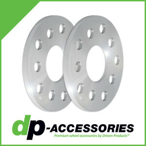 10mm Press-On Lug Centric Wheel Spacers 5x100 5x112 57.1mm - 2 Pack