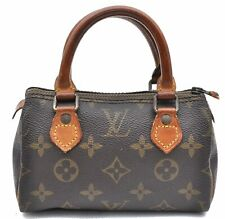 Authentic Louis Vuitton Monogram Mini Speedy Hand Bag Old Model LV A4448