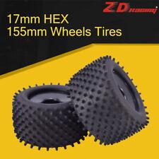 2pcs ZD Racing 17mm HEX&155mm Wheels Tires for 1/8 Truggy Monster Redcat Hsp HPI