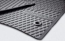 Original VW Phaeton Gummimatten Gummifussmatten Fußmatten vorn + hinten schwarz