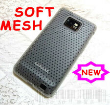 TPU Gel SOFT MESH Case Cover for Galaxy S2 i9100 White