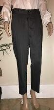 Claire Campbell ~ HIGH ~ Grey Pinstripe Pleated Dress Trousers UK8-10