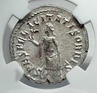 PHILIP I the ARAB Authentic Ancient 244AD Silver Roman Coin SPES HOPE NGC i81408