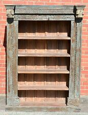 Indian Reclaimed Antique Timber Carved Display Cabinet Bookcase