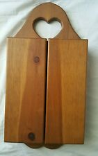 Small Solid wood wall cabinet with doors and shelves  dsk