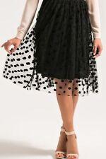 Polyester Polka Dot Hand-wash Only Knee-Length Skirts for Women
