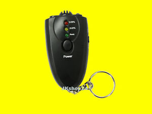 MINI-ALKOMAT Alkohol-Messgerät Alcohol Tester mit LED-LICHT +Anzeige über 3 LEDs