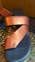Donald J Pliner Slip on Sandals Sz. 7 Copper Metalic Leather Slides ITALY Thong