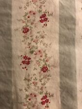 SIMPLY SHABBY CHIC Ditsy Daisy Stripe Pink Floral Balloon Shade Curtain