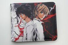 Wallet Death Note Japanese Anime Manga L Kira Bifold Cards Coins Men