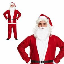 Santa Claus Suit Fancy Dress Outfit Adult Mens Father Christmas Xmas Budget Size