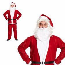 Santa Claus Suit Fancy Dress Outfit Adult Mens Father Christmas Xmas Budget Size