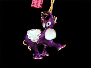 Women's Crystal Elephant  Pendant Sweater Chain Betsey Johnson Necklace Gift