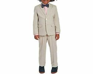 Calvin Klein Little Boys 4-Pc. Formal Suit Set, Tan, Size 5, $140, NwT