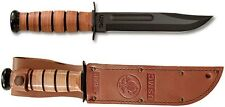 Ka-Bar - USMC Fighting Knife Plain Edge w/ Leather Sheath (USA) 1217 NEW