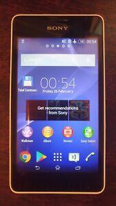 "Sony Xperia E1 D2005 4"" 3G WIFI 3MP Bluetooth GPS Radio Original Andriod Phone"