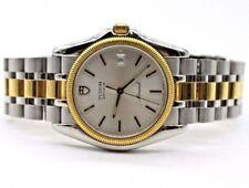 Men's Tudor Monarch 15633 18K Yellow Gold & Stainless Quartz Silver Dial Watch