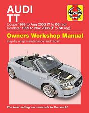 Haynes Manual 6369 Audi TT 1.8T 2WD & 4WD 1999 to 2006 Models