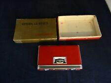 Antique Vintage CHADWICK Red Leather Folding Opera Glass Binoculars In Orig Box!