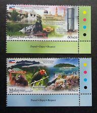 Malaysia Tourist Destination Sabah 2018 Train Coral Island Bird (stamp color MNH