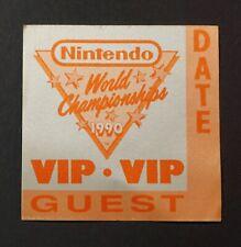 Nintendo World Championship VIP 1990 Unused Guest Satin Pass Badge Rare