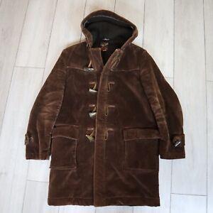 Gloverall Snowdon Duffle Coat Cord Brown Medium 40 Vintage 1970s
