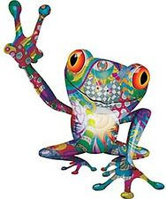 """Cool Peace Frog Decal in Phychadelic Art 6"""" REFLECTIVE PLH007"""