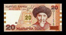 Kyrgyzstan 20 Com 2002 UNC  S/N BB 3077475