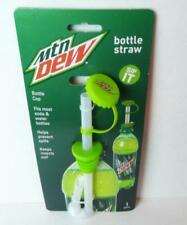 Mountain Dew Bottle Straw Cap Beverage Topper Plastic Travel Sip