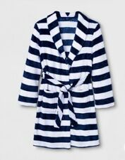 Cat & Jack Boys Navy & White Striped Robe Xl (16)
