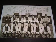 AJAX FC LEGEND JOHAN CRUYFF JOHAN CRUIJFF SIGNED (PRINTED) x13 TEAM PHOTOGRAPH