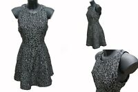 Party Evening Animal print Fully lined Skater Dress Size 12 UK