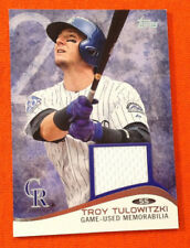 2014 Topps Mini Online Exclusive Relic Game Jersey - TROY TULOWITZKI Rockies