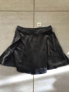Abercrombie Kids NWT Grey Velvet Satin Look Short Skirt Size L