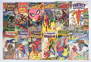 Lot 12 Marvel Comics Fantastic Four Spider-Man Daredevil 1st Mary Jane Blaastar