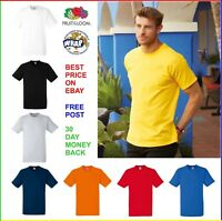 MENS 100% COTTON T-SHIRT FRUIT OF THE LOOM Heavy Plain T SHIRT: Small - 3XL