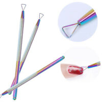 Chameleon Triangle Stick Rod UV Gel Polish Remover Nail Art Cuticle Pusher Tool
